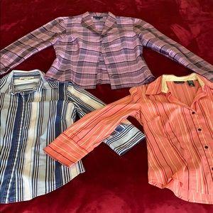 Bundle 3 Ann Taylor shirt / blazer silk small